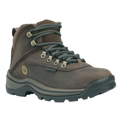Womens Timberland White Ledge Mid Waterproof Casual Shoe - Dark Brown 10