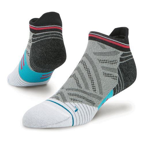 Mens Stance Fusion Run Speed Tab Socks - Grey L