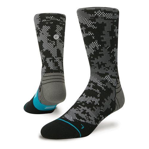 Mens Stance Fusion Run Zing Crew Socks - Black L
