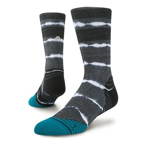 Mens Stance Fusion Run Momentum Crew Socks - Black L