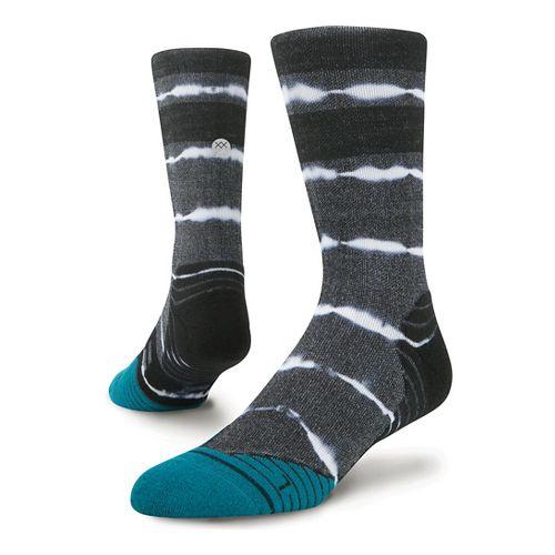 Mens Stance Fusion Run Momentum Crew Socks - Black M