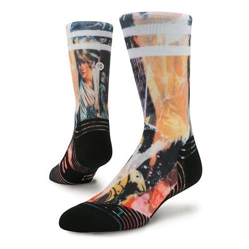 Mens Stance Star Wars Run Galactic Mash Crew Socks - Multi L