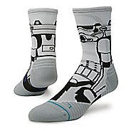Mens Stance Star Wars Run Storm Trooper Crew Socks