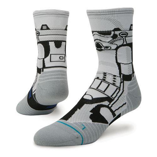 Mens Stance Fusion Run Storm Trooper Crew Socks - White L