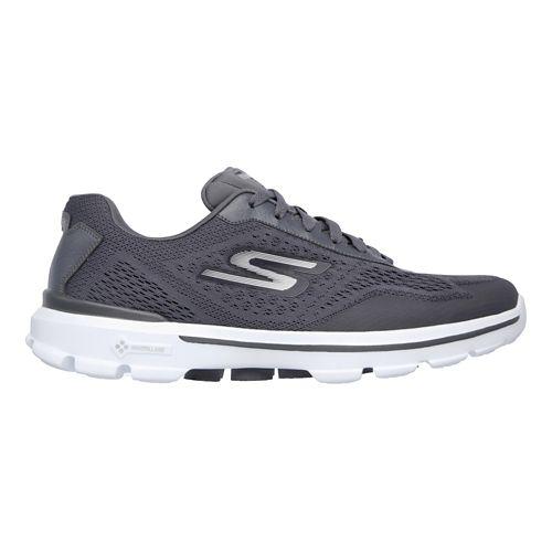 Mens Skechers GO Walk 3 - Reaction Casual Shoe - Charcoal 10.5