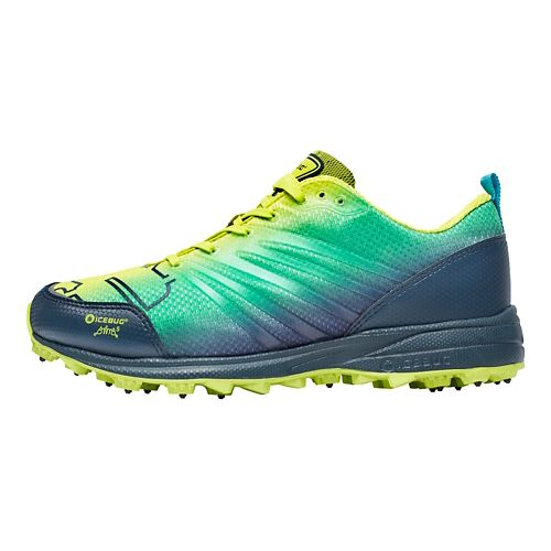 Mens Icebug Anima BUGrip Running Shoe - Poison/Sky 8.5