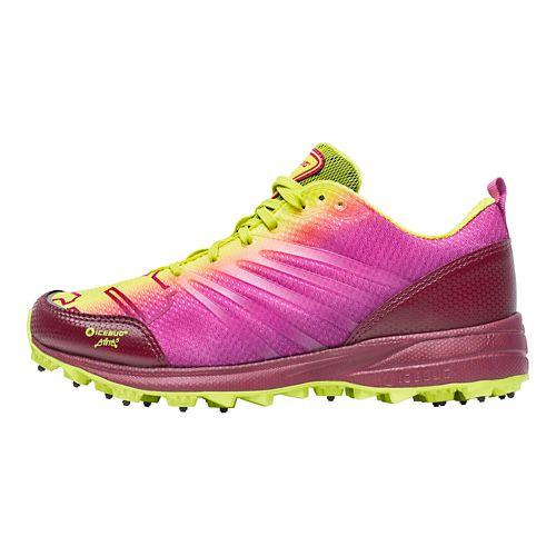 Womens Icebug Anima BUGrip Running Shoe - Poison/Mulberry 10
