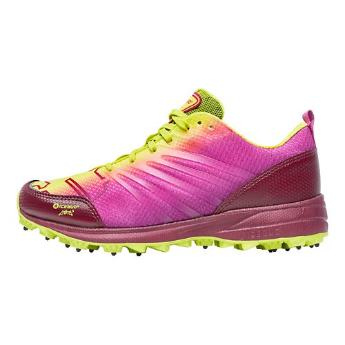 Womens Icebug Anima BUGrip Running Shoe - Poison/Mulberry 5.5