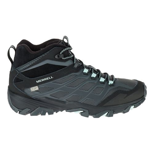 Womens Merrell Moab FST Ice+ Thermo Hiking Shoe - Black 9.5