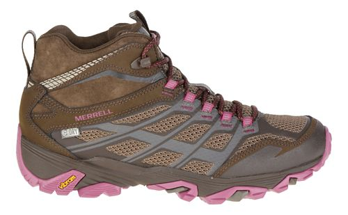 Womens Merrell Moab FST Mid Waterproof Hiking Shoe - Boulder 10