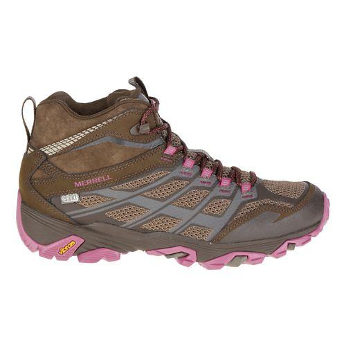 Womens Merrell Moab FST Mid Waterproof Hiking Shoe - Boulder 10