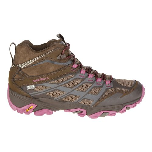 Womens Merrell Moab FST Mid Waterproof Hiking Shoe - Boulder 8