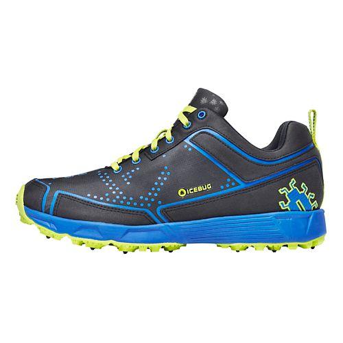 Mens Icebug DTS2 BUGrip Running Shoe - Black/Cobalt 12.5