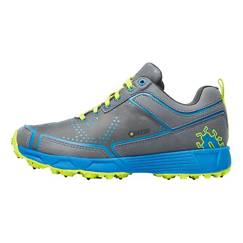 Womens Icebug DTS2 BUGrip Running Shoe - Charcoal/Azure 10.5