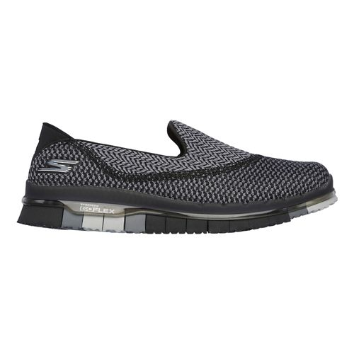 Womens Skechers GO Flex - Extend Casual Shoe - Black/Grey 7
