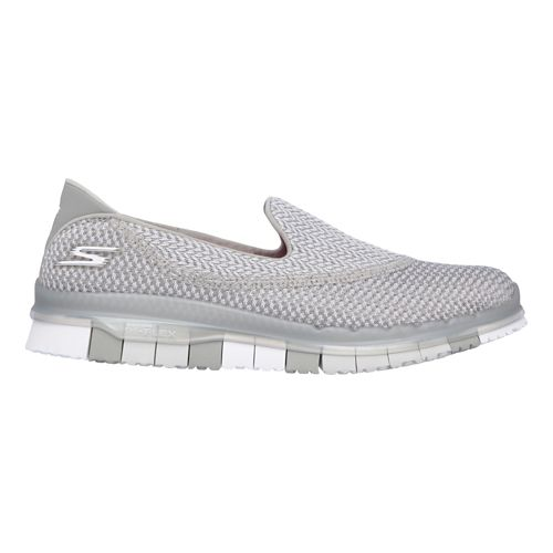 Womens Skechers GO Flex - Extend Casual Shoe - Grey 9