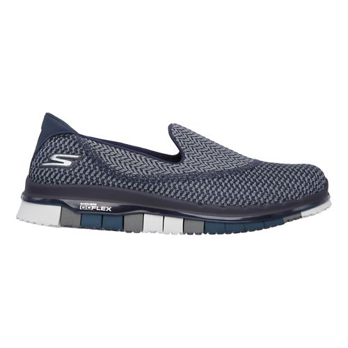 Womens Skechers GO Flex - Extend Casual Shoe - Navy/Grey 5