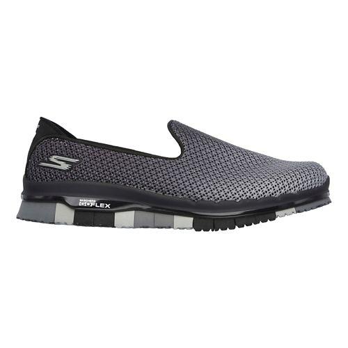Womens Skechers GO Flex - Lotus Casual Shoe - Black/Grey 10