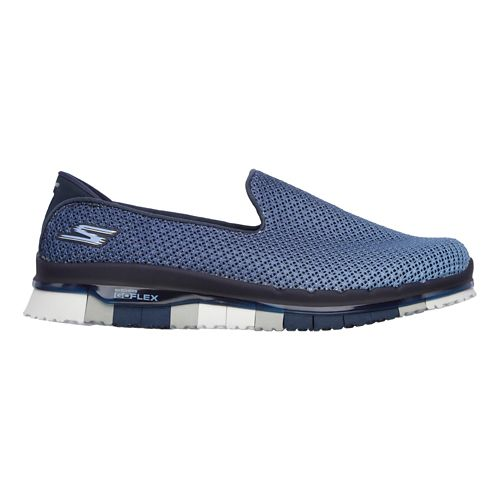 Womens Skechers GO Flex - Lotus Casual Shoe - Navy/Blue 5.5