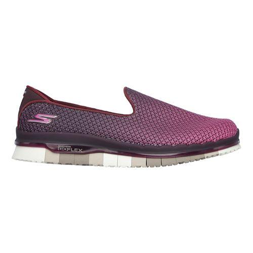 Womens Skechers GO Flex - Lotus Casual Shoe - Burgundy 11