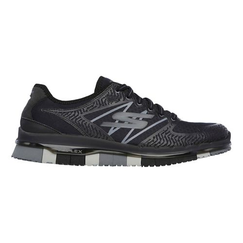 Womens Skechers GO Flex - Momentum Casual Shoe - Black/Grey 5.5