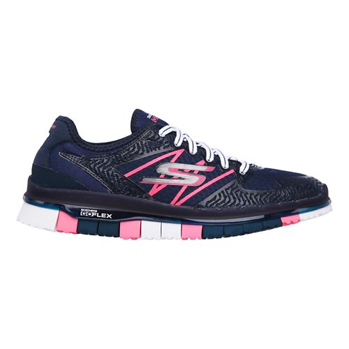 Womens Skechers GO Flex - Momentum Casual Shoe - Navy/Hot Pink 8.5