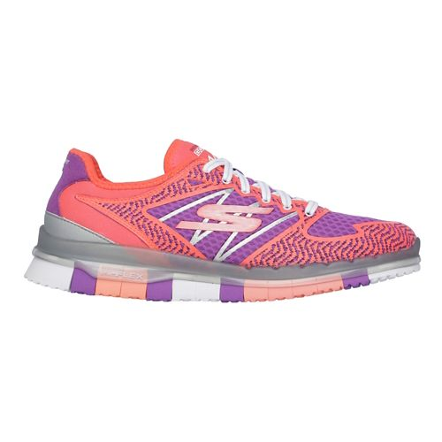 Womens Skechers GO Flex - Momentum Casual Shoe - Hot Pink/Purple 9.5