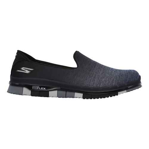 Womens Skechers GO Flex - Muse Casual Shoe - Black/Grey 8