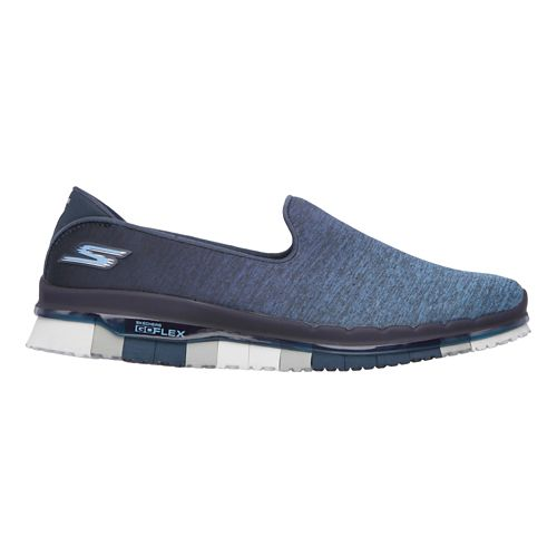 Womens Skechers GO Flex - Muse Casual Shoe - Navy/Grey 8.5