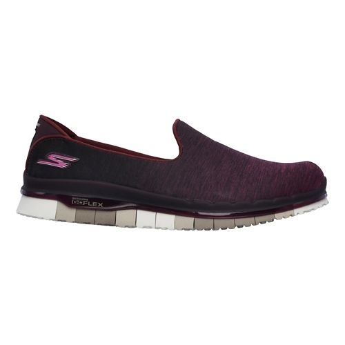 Womens Skechers GO Flex - Muse Casual Shoe - Burgundy 9