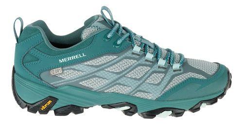 Womens Merrell Moab FST Waterproof Hiking Shoe - Sea Pine 9