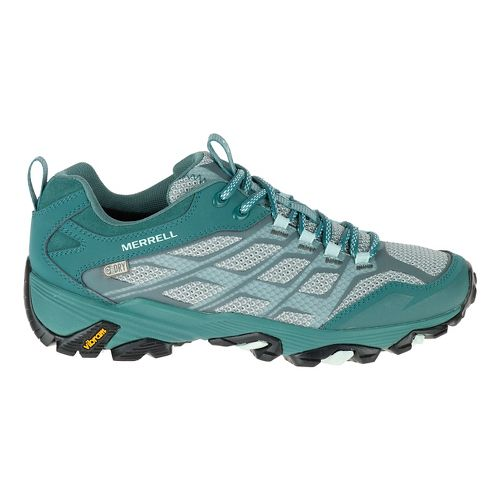 Womens Merrell Moab FST Waterproof Hiking Shoe - Sea Pine 7.5