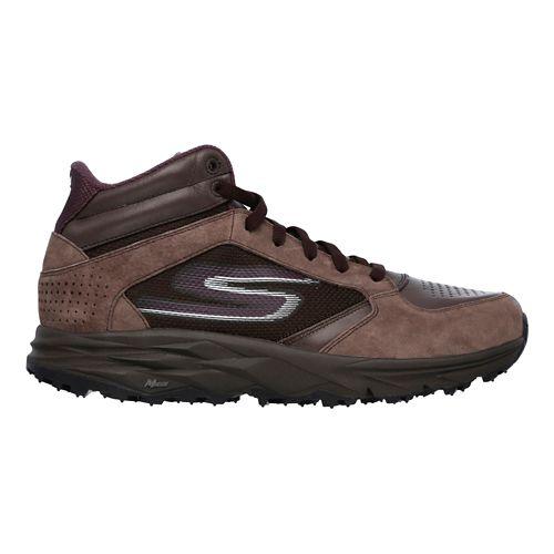 Womens Skechers GO Trail Boot Trail Running Shoe - Chocolate 8