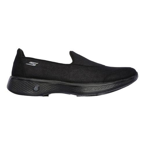 Womens Skechers GO Walk 4 Casual Shoe - Black 8.5