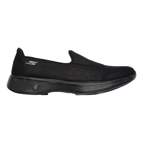 Womens Skechers GO Walk 4 Casual Shoe - Black 9.5