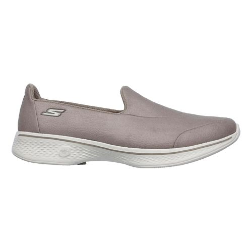 Womens Skechers GO Walk 4 Casual Shoe - Taupe 10