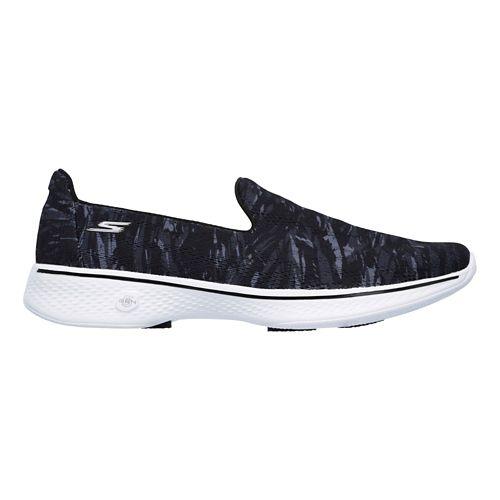 Womens Skechers GO Walk 4 - Electrify Casual Shoe - Black/White 8