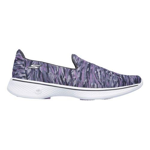 Womens Skechers GO Walk 4 - Electrify Casual Shoe - Grey/Purple 9.5