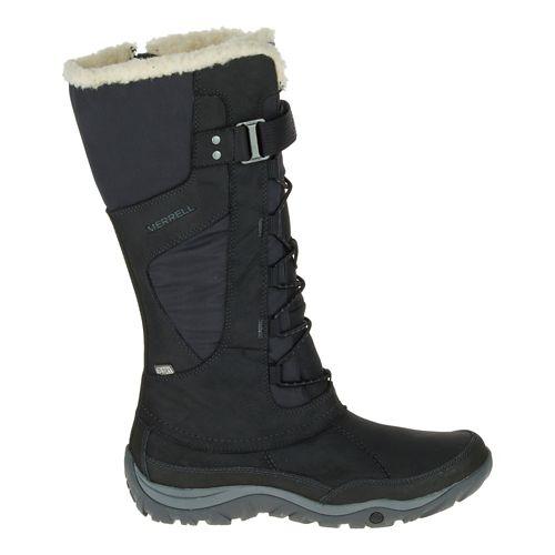 Womens Merrell Murren Tall Waterproof Casual Shoe - Black 8