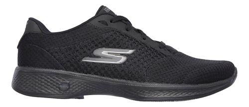 Womens Skechers GO Walk 4 - Exceed Casual Shoe - Black 10