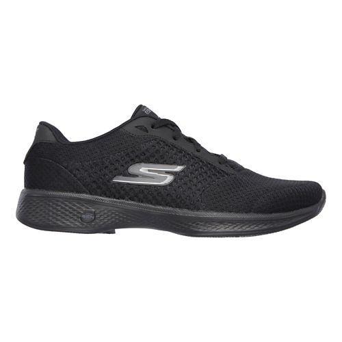 Womens Skechers GO Walk 4 - Exceed Casual Shoe - Black/White 9.5