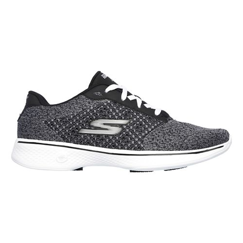 Womens Skechers GO Walk 4 - Exceed Casual Shoe - Black/White 6