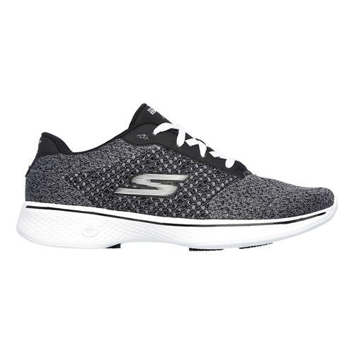 Womens Skechers GO Walk 4 - Exceed Casual Shoe - Black/White 9