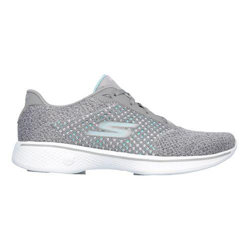 Womens Skechers GO Walk 4 - Exceed Casual Shoe - Black/White 11