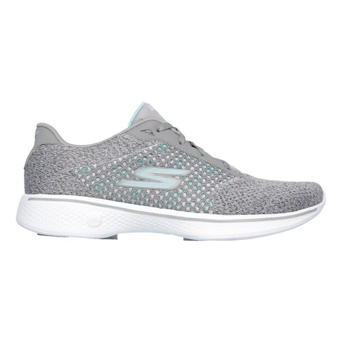 Womens Skechers GO Walk 4 - Exceed Casual Shoe - Grey 9.5