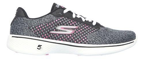 Womens Skechers GO Walk 4 - Exceed Casual Shoe - Black/Hot Pink 9