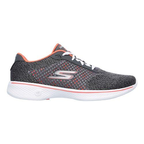Womens Skechers GO Walk 4 - Exceed Casual Shoe - Black/Hot Pink 5