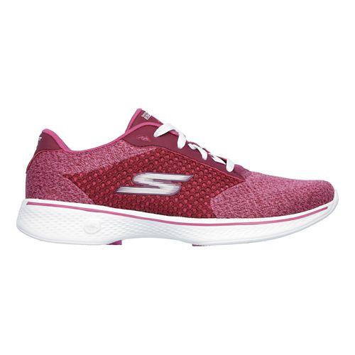 Womens Skechers GO Walk 4 - Exceed Casual Shoe - Raspberry 9.5