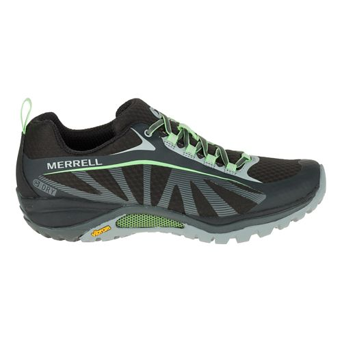 Womens Merrell Siren Edge Waterproof Hiking Shoe - Black/Paradise 7.5