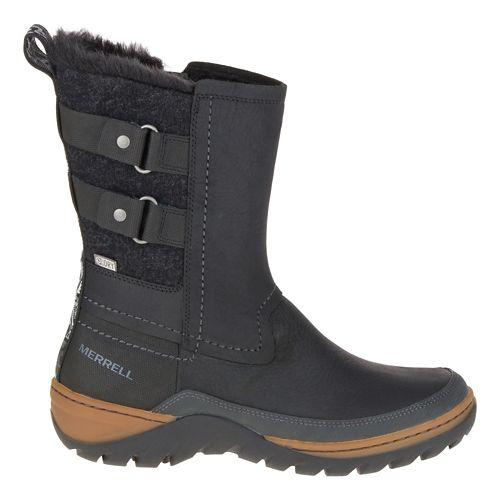 Womens Merrell Sylva Mid Buckle Waterproof Casual Shoe - Black 6
